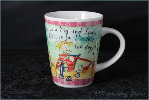 Johnson Brothers - Born To Shop - Mini Mug (I'm On A Gin & Tonic Diet)