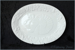 Marks & Spencer - White Embossed - Oval Platter (Turkey)