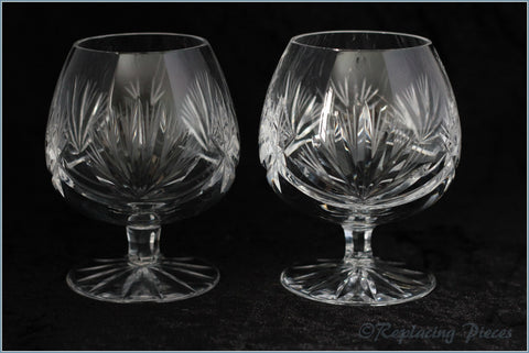 Pair Of Crystal Brandy Balloons