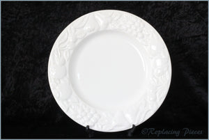 Marks & Spencer - White Embossed - Dinner Plate (Wide Rim)