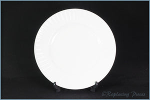 "Wedgwood - Night & Day - 8 1/4"" Salad Plate (White-Ribbed)"