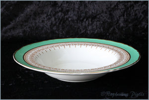 "Royal Worcester - Regency (Bright Green) - 8"" Rimmed Bowl"
