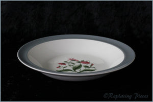 "Wedgwood - Mayfield Grey - 7 3/8"" Rimmed Bowl"