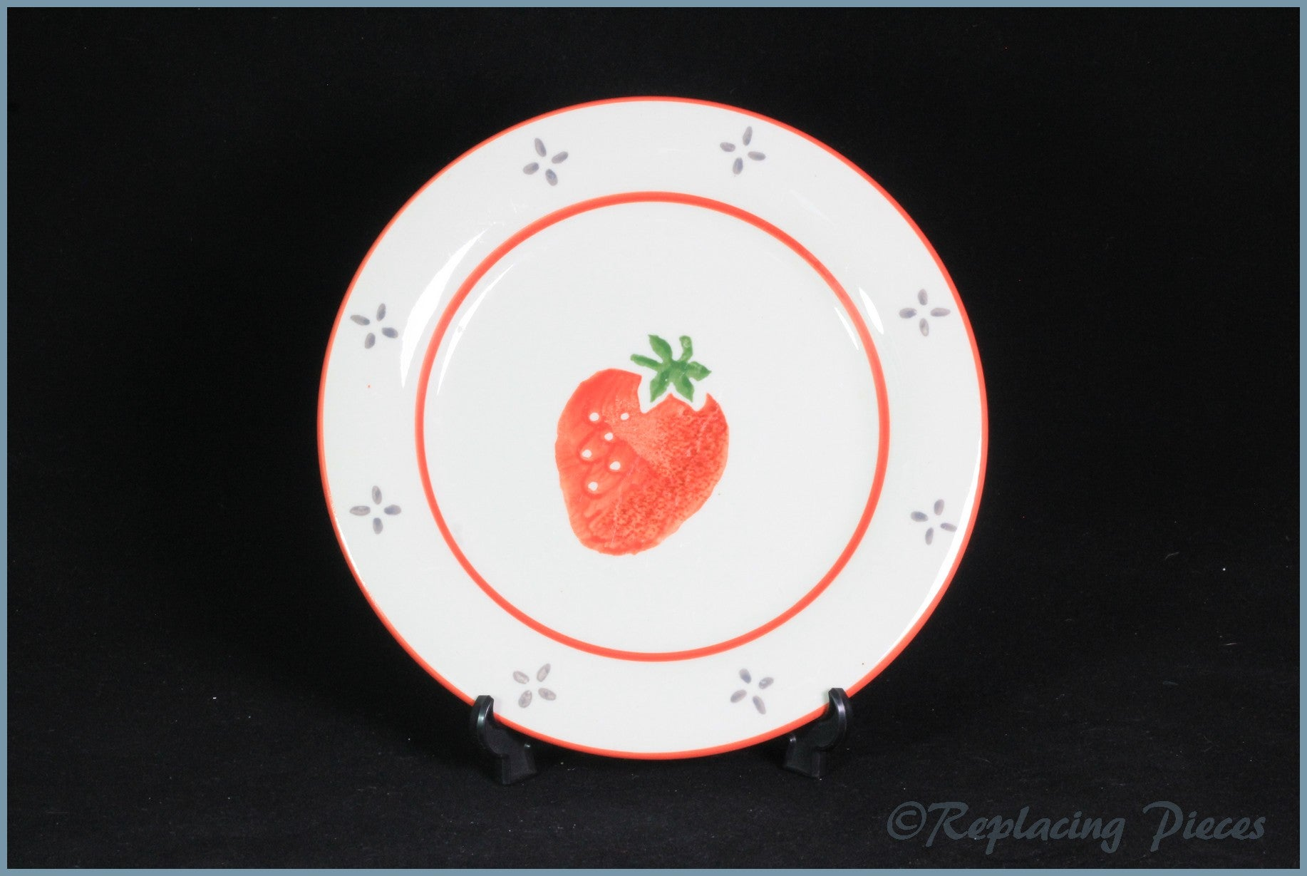 "Laura Ashley - Summer Fruits - 8"" Salad Plate (Strawberry)"
