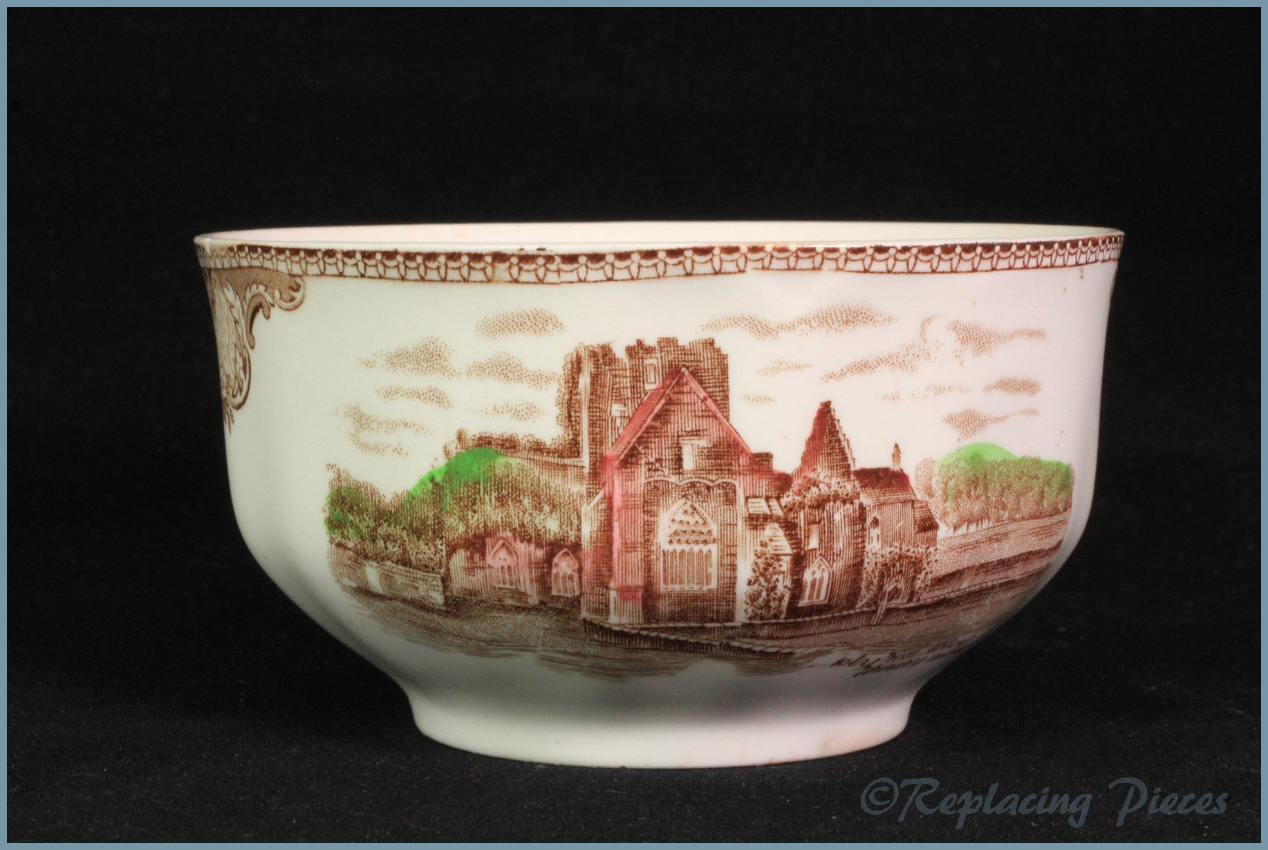 Johnson Brothers - Old Britain Castles (Brown) - Sugar Bowl