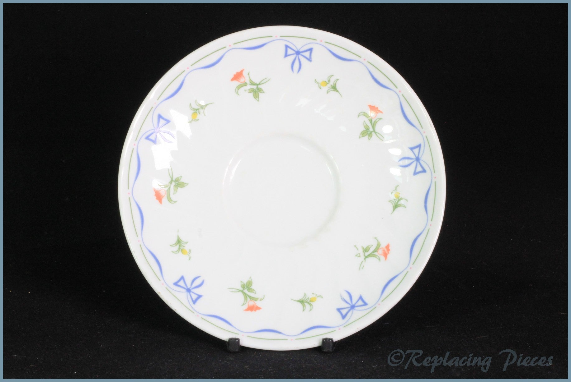 Royal Worcester - Ribbons & Bows - Tea Saucer