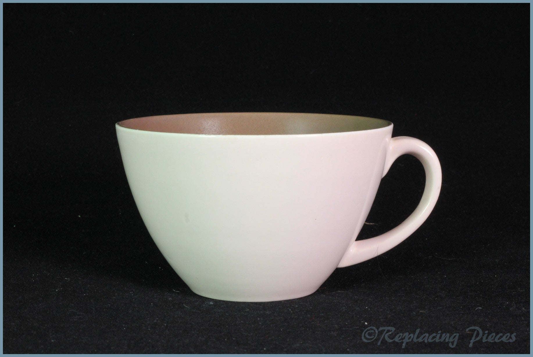 Poole - Mushroom & Sepia - Teacup (Low)