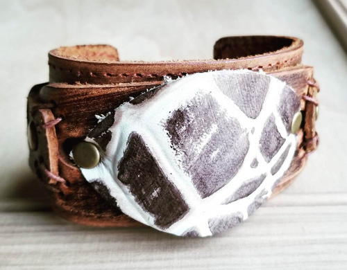 Leather Gator Cuff