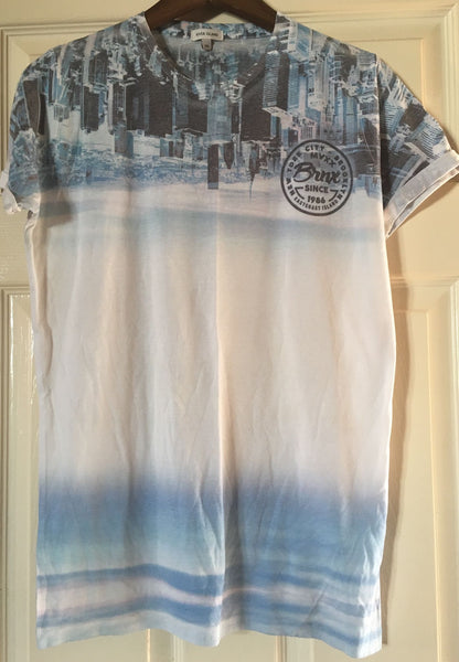 River island used printed tshirt - JAB Discount Bargains