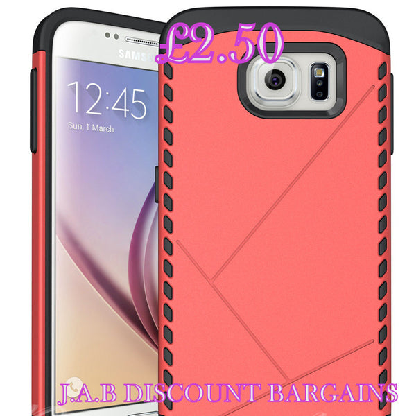 Heavy Duty Armor Shockproof Cover For Samsung Galaxy S6 - JAB Discount Bargains