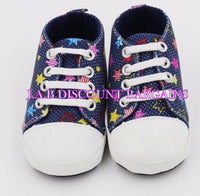 Infants Baby Casual Sole Crib Shoes Prewalkers Sneaker Blue stars