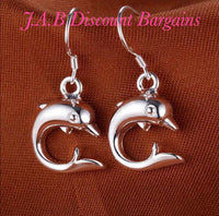 Fashion Animal Dolphin 925 Sterling Silver drop Earrings - JAB Discount Bargains