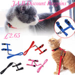 Adjustable Pet Cat  Nylon Lead  Harness Set - JAB Discount Bargains