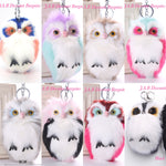 Plush faux fur owl keyring keycharm handbag accessory - JAB Discount Bargains