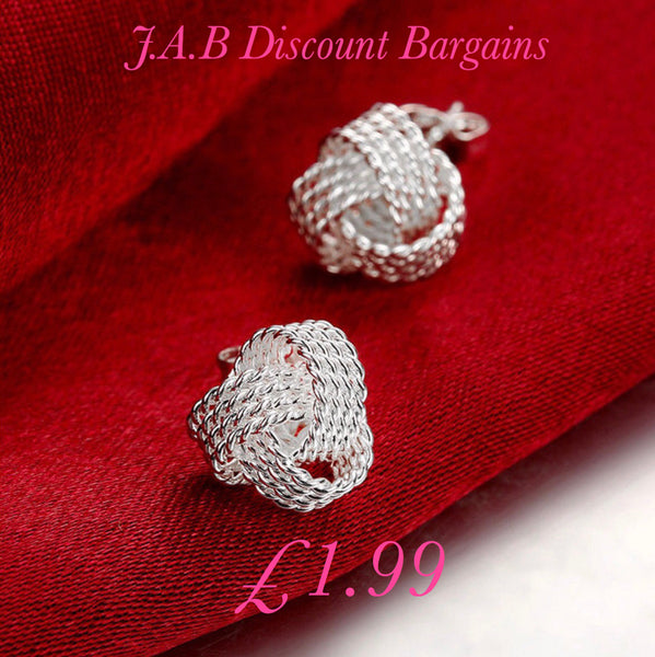 Fashion 925 Silver Filled Tennis stud Earrings - JAB Discount Bargains