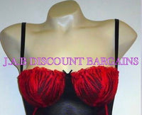Sexy Daniel Axel Black Basque /Bustier & Thong Set Embroidered - JAB Discount Bargains