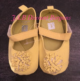 Infants Baby girl Casual Fashion flower shoe Yellow
