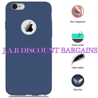 IPHONE 6 6S silicone rubber case cover Navy blue