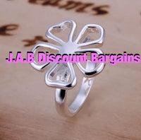 Ladies Fashion flower silver Ring