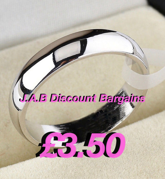 Plain silver plated wedding bands - JAB Discount Bargains