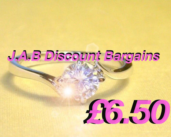 0.5 carat created diamond bypass promise ring - JAB Discount Bargains