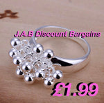 Fashion silver Grape ring - JAB Discount Bargains