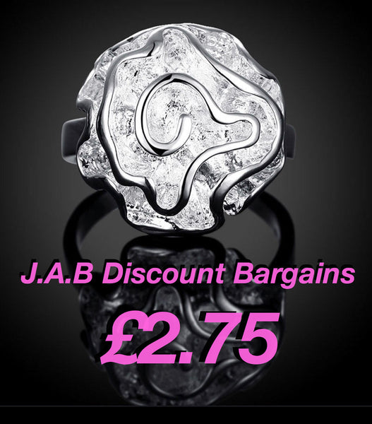 Rose silver ring jab Discount Bargains