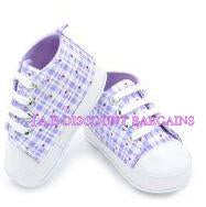Infants Baby Casual Sole Crib Shoes Prewalkers Sneaker Lilac flower