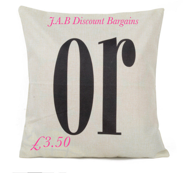 Letter collection cushion covers - JAB Discount Bargains