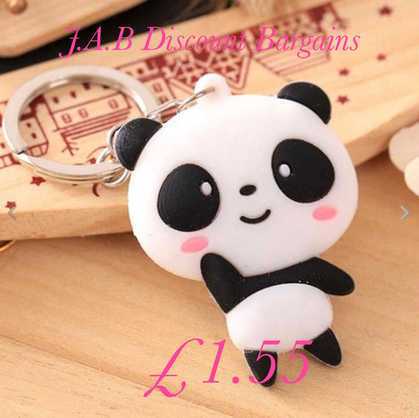 Character keyring soft silicone cartoon panda - JAB Discount Bargains