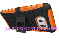 Heavy Duty Kickstand Hybrid Shockproof Armor Case For Samsung J7 Orange