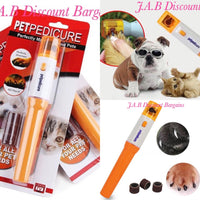 Pet Pedicure nail grinder trimmer painless dog cat groomer - JAB Discount Bargains