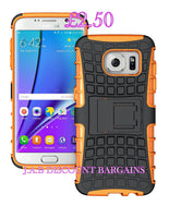 Heavy Duty Kickstand Hybrid Shockproof Armor Case For Samsung J7
