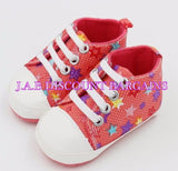 Infants Baby Casual Sole Crib Shoes Prewalkers Sneaker Stars pink