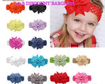 Handmade Baby Girl Plain Hair Bow Hairband/headband - JAB Discount Bargains