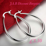 Fashion silver plated embedded round earrings - JAB Discount Bargains