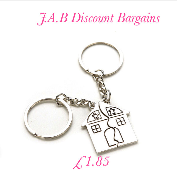 2 X Couple House Key Chain Gift Trinket for Your  Sweetheart - JAB Discount Bargains