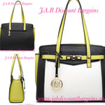 MISS LULU LEATHER LOOK CONTRAST WINGED SHOULDER HANDBAG YELLOW - JAB Discount Bargains