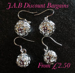 925 sterling silver fashion ball drop earrings - JAB Discount Bargains