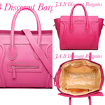 MISS LULU STRUCTURED LEATHER LOOK SMILE HANDBAG HOT PINK - JAB Discount Bargains