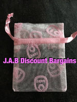 pink organza jewellery gift pouch - JAB Discount Bargains