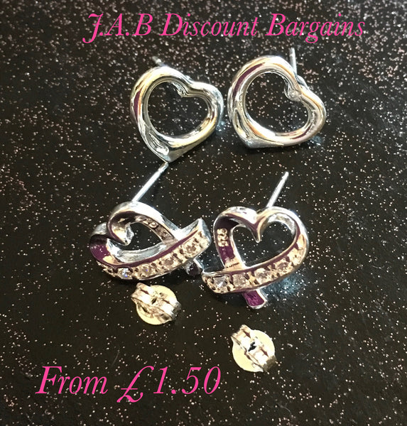 Fashion 925 Silver Filled Heart earrings - JAB Discount Bargains