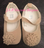 Infants Baby girl Casual Fashion flower shoe Beige