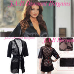 Luxury lace back sexy lingerie dressing gown Kimono - JAB Discount Bargains