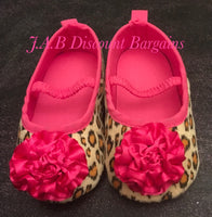 Infants Baby girl Casual Fashion flower shoe Leopard print
