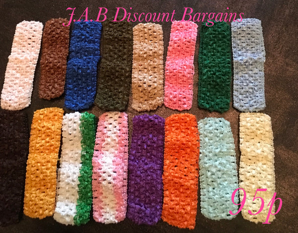 Crochet Baby and Girls Headbands Assorted colours - JAB Discount Bargains