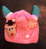 Baby Thick fluffy lining Wool Hat 3D Character - JAB Discount Bargains