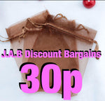 Brown organza jewellery gift bag pouch - JAB Discount Bargains