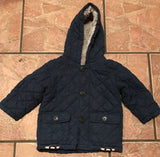 Used baby boy quilted coat 9-12 months - JAB Discount Bargains