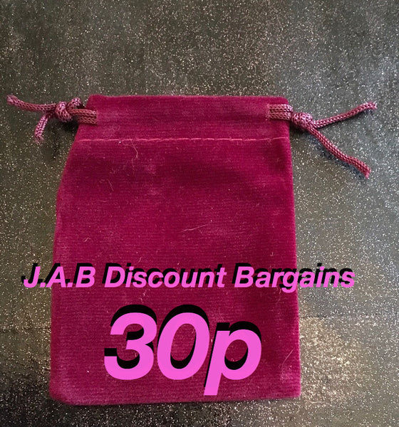 velvet jewellery gift bag pouch size 2 - JAB Discount Bargains